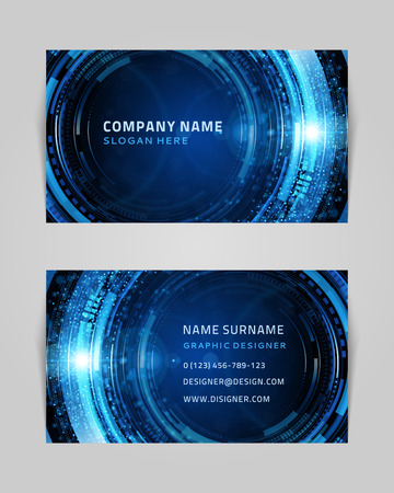 Vector abstract creative business card design template  Technology background   Vector