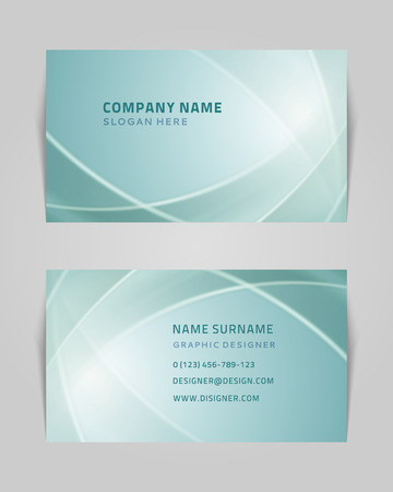 name graphics: Vector abstract creative business card design template  Light waves background