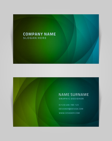 visit card: Vector abstract creative business card design template  Light waves background