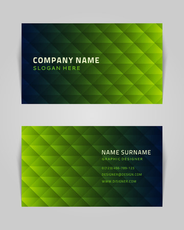 calling: Vector abstract creative business card design template  Technology background