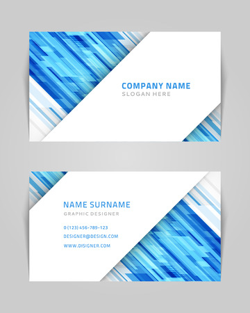 Vector abstract creative business card design template Technology background