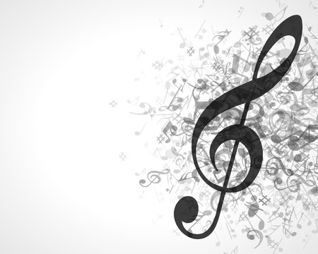 music notes vector: Music background with notes  Vector background   Illustration