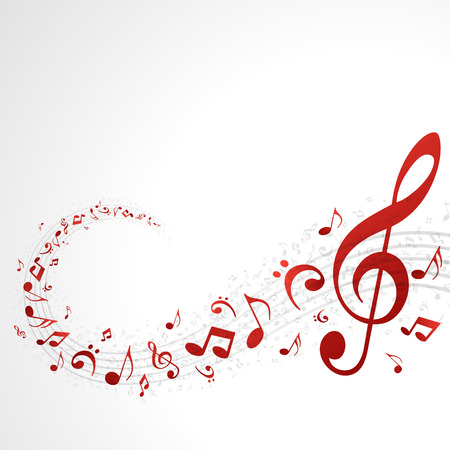 Music background with notes  Vector background   Illustration