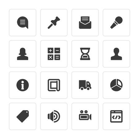 women and men: Flat icons vector set for web design, infographics, ui and mobile apps. Objects, business, office, communication and marketing items