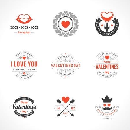 Set Happy Valentines Day vector backgrounds Vector