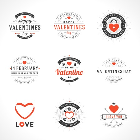 valentines: Set Happy Valentines Day vector backgrounds