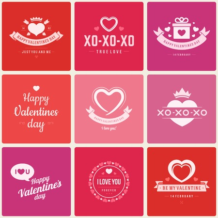 love icon: Happy Valentines Day vector background