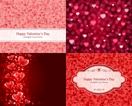 love explode: Set Happy Valentines Day vector backgrounds