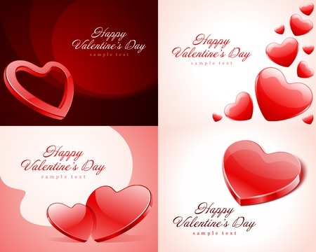 Set Happy Valentines Day vector backgrounds Vector