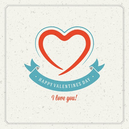 Happy Valentines day Greeting Card Vector
