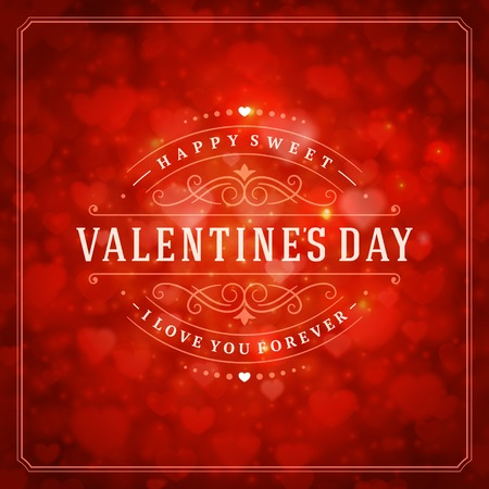 valentine background: Happy Valentines day vector background