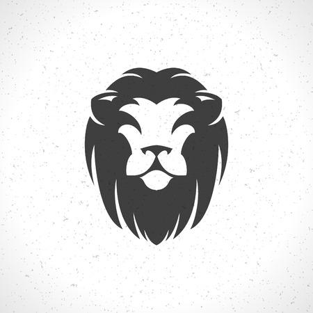 leones: Cara del león plantilla icono emblema para el diseño de negocios o una camiseta. Vector Vintage Design Element.