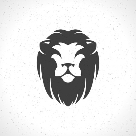 lion roar: Lion face icon emblem template for business or t-shirt design. Vector Vintage Design Element. Illustration