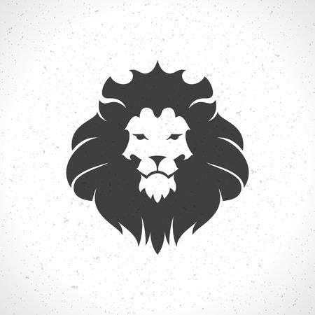 Lion face icon emblem template for business or t-shirt design. Vector Vintage Design Element. Vectores