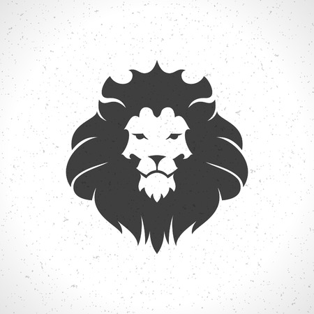 Lion face icon emblem template for business or t-shirt design. Vector Vintage Design Element. Ilustração