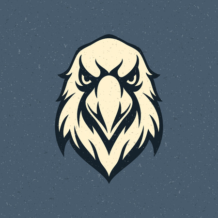 head icon: Eagle head icon emblem template mascot symbol for business or shirt design. Vector Vintage Design Element.