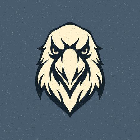 adler silhouette: Eagle head icon Emblem Vorlage Maskottchen Symbol f�r Gesch�fts-oder Hemdentwurf. Grafik Vintage Design Element. Illustration