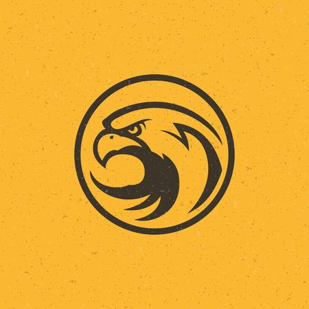dingbat: Eagle head icon emblem template mascot symbol for business or shirt design. Vector Vintage Design Element.