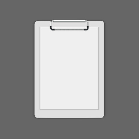 Clipboard with a blank paper vector mock up template for logotype presentation 矢量图像