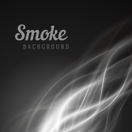 smooth: Abstract smooth gray color smoke vector background