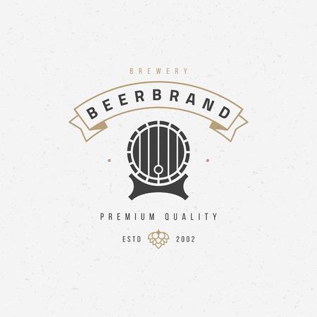 Beer barrel  badge design element vector illustration