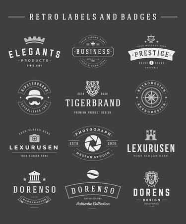 vintage design: Retro  set vector vintage graphics design elements