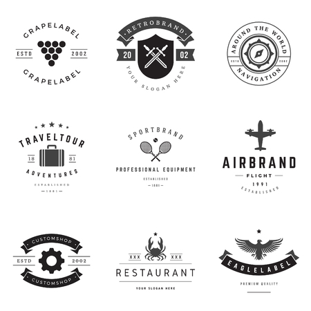 vintage cafe: Retro  vector set.