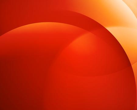 Oranje soepele draai licht helder ronde lijnen Vector abstracte achtergrond