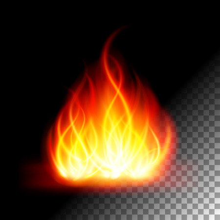fire flame: Abstract lfire flame  light on transparent background vector illustration. Easy replace use to any image.