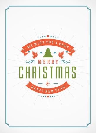 Joyeux Noël Carte de voeux ou de conception d'affiche. Texturé vecteur de fond de papier et rétro Vacances typographie souhaits. Vecteurs