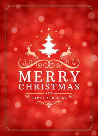 sorpresa: Las luces de Navidad y la etiqueta de la tipografía de diseño de vectores de fondo. Tarjeta de felicitación o invitación deseos y festivos.