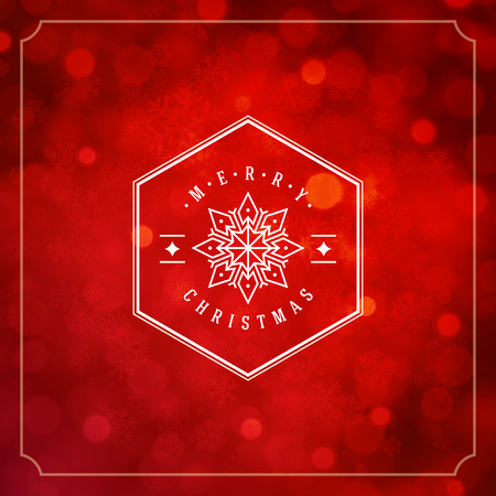christmas lights: Christmas lights with snowflakes and typography label design vector background. Greeting card or invitation and holidays wishes.