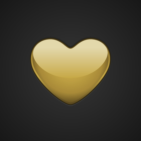 golden heart: Golden Heart Valentines day Greeting Card background. Good for Valentines day invitation, Valentine card, Valentines day background.