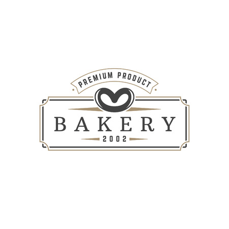 bakery products: Bakery Shop logo template vector object for logotype or badge