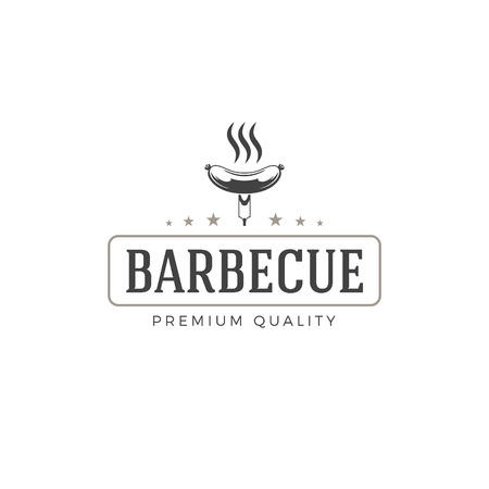 dinner party: Restaurant logo template vector object for logotype or badge Design.