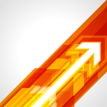 Abstract technology orange bright lines with light background.