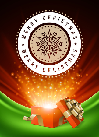 postcard box: Christmas greeting card or poster design.