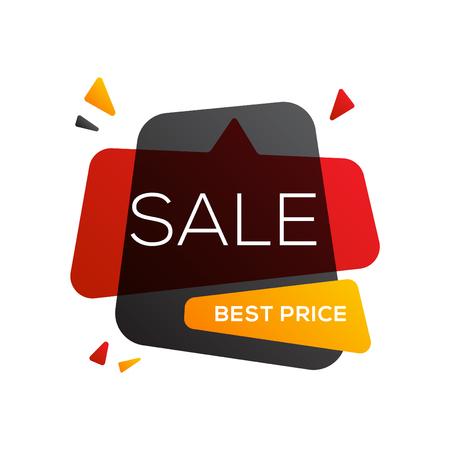 Black friday sale banner design template. End of season discounts vector illustration. Illustration