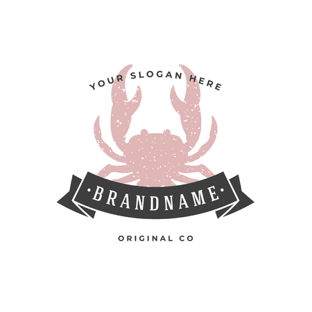Crab hand drawn , isolated on white background vector illustration Illustration