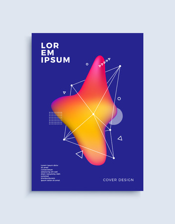 Modern abstract cover design template. Trendy fluid colorful shapes composition for flyer, banner, brochure and poster. Eps10 vector illustration. Illustration