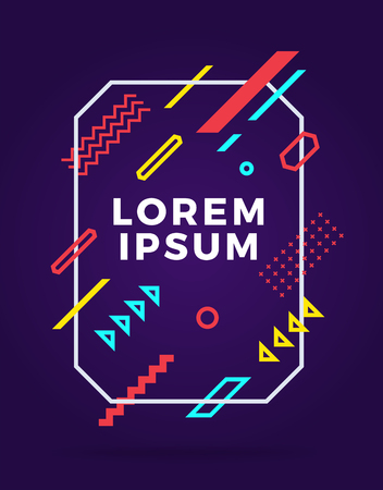 Cover modern abstract design template. Minimal geometric shapes composition for flyer, banner, brochure and poster. Eps10 vector illustration. Illustration