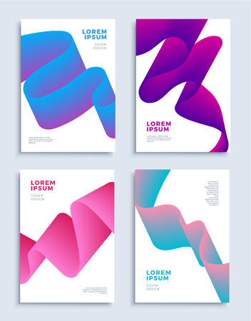 Modern abstract covers design templates set. Liquid color shapes composition for flyer, banner, brochure and poster. Eps10 vector illustration.