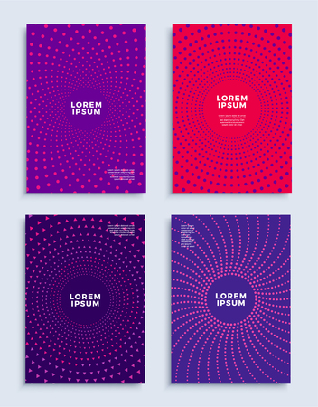 Covers modern abstract design templates set. Futuristic minimal geometric compositions for flyer, banner, brochure and poster. Eps10 vector illustration.