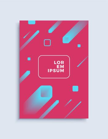 Cover modern abstract design template. Minimal geometric shapes composition for flyer, banner, brochure and poster. Eps10 vector illustration. Ilustração