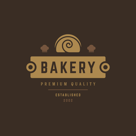 Bakery Shop Logo Template. Vector object and Icon