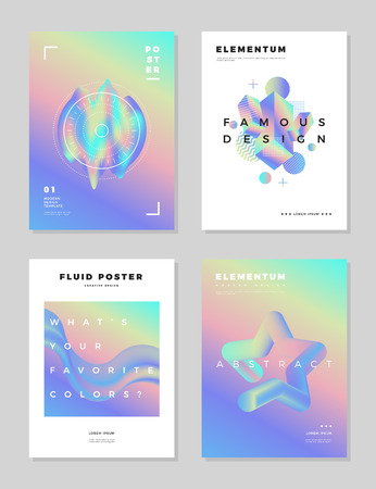 Modern abstract poster cover design template. Illustration