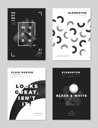 Modern abstract cover design templates.