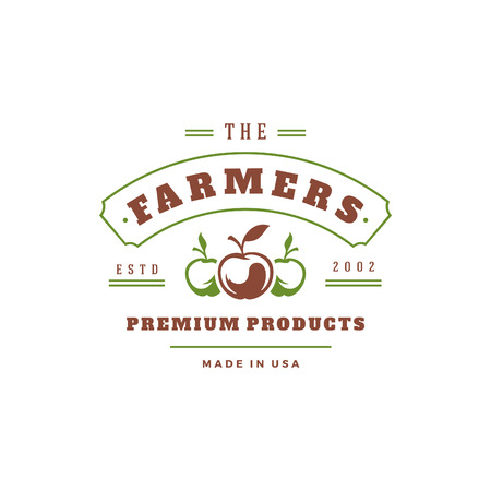 Farmers market logo template vector illustration. Stock Photo