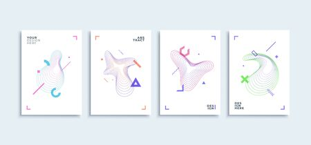 Modern abstract geometric lines colorful shapes