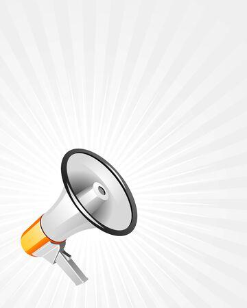 Modern loudspeaker on white background vector illustration